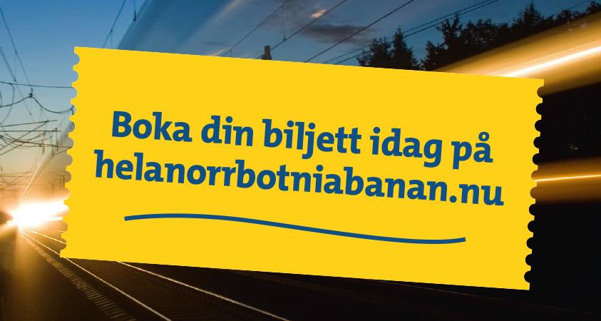 Möjlighet att boka biljetter för att visa stödet för Norrbotniabanan