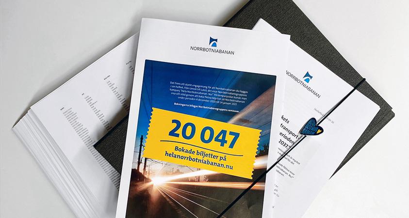 Över 20 000 biljettbokningar  bifogas med vårt remissvar